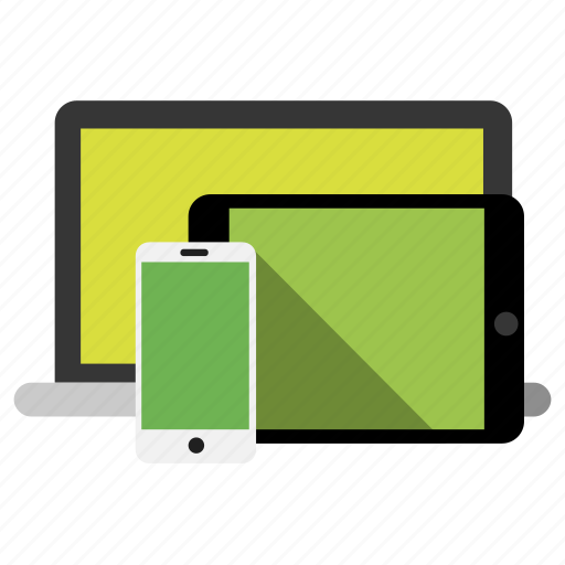 adaptive, fully, mobile, notebook, responsive, tablet icon