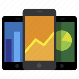 adaptive, analytics, chart, iphone, mobile, responsive icon