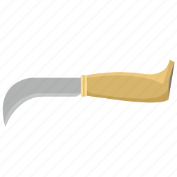blade, curved, hunter, knife icon