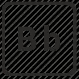 alphabet, b, english, latin, letter icon