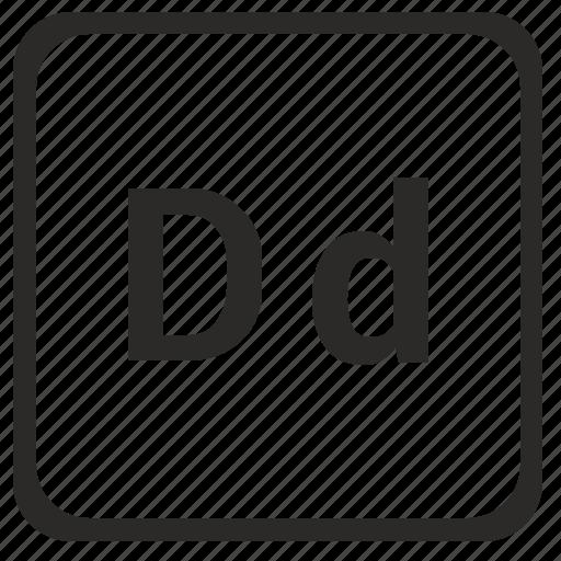 alphabet, d, english, latin, letter icon