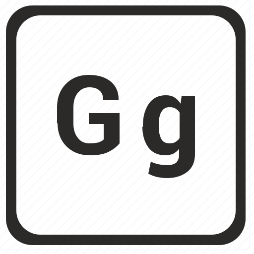 alphabet, english, g, latin, letter icon