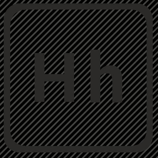 alphabet, english, h, latin, letter icon