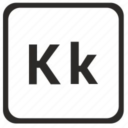 alphabet, english, k, latin, letter icon