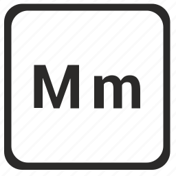 alphabet, english, latin, letter, m icon