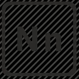 alphabet, english, latin, letter, n icon