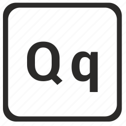 alphabet, english, latin, letter, q icon