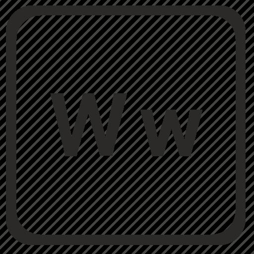 alphabet, english, latin, letter, w icon