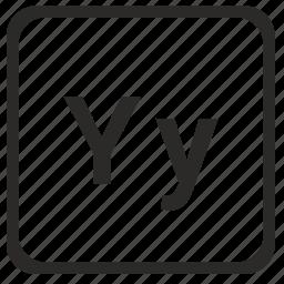 alphabet, english, latin, letter, y icon
