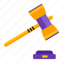 auction, gavel, law, money icon