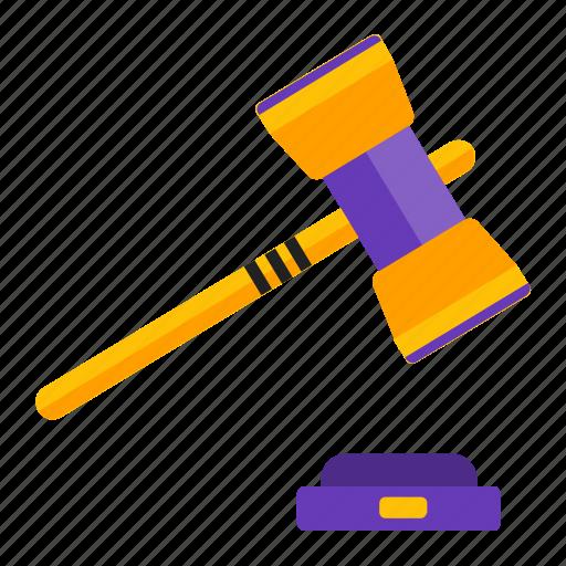 auction, gavel, law, money icon
