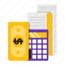 calculation, calculator, financial, money icon