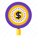 bingo, fund, hunting, search icon