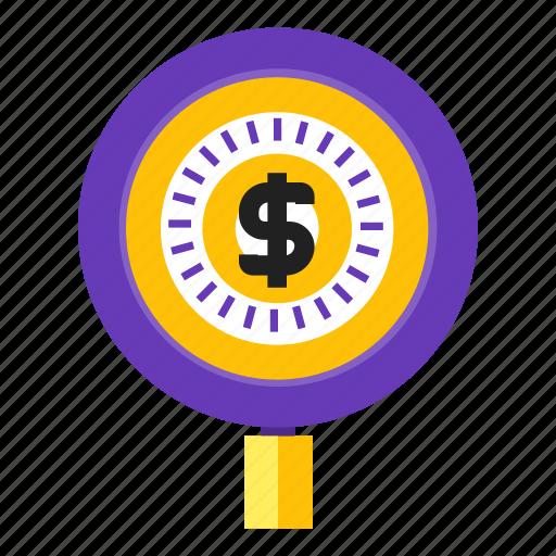 bingo, fund, hunting, search icon