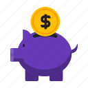 bank, loan, piggy, save icon