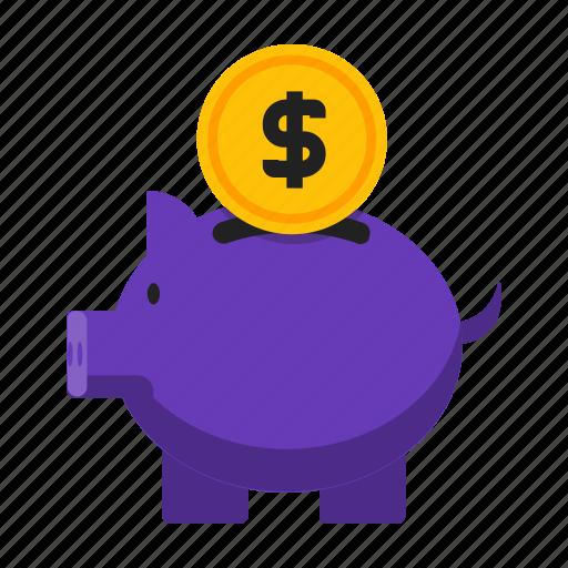 bank, loan, piggy, save icon