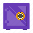 box, safe, save, wealth icon