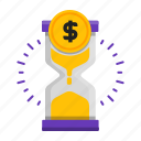coin, is, money, time icon