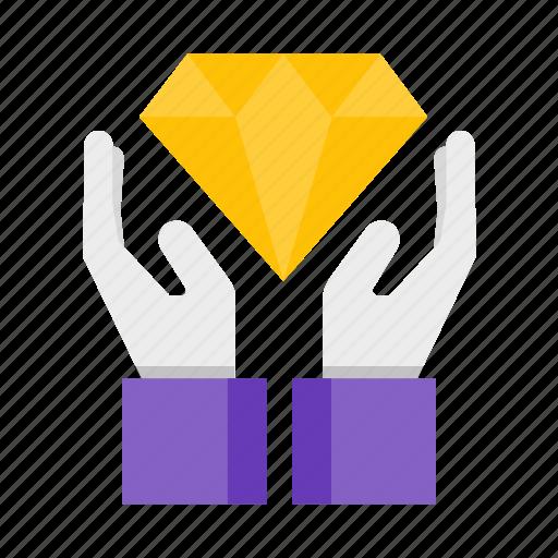 best, hand, value, wealth icon