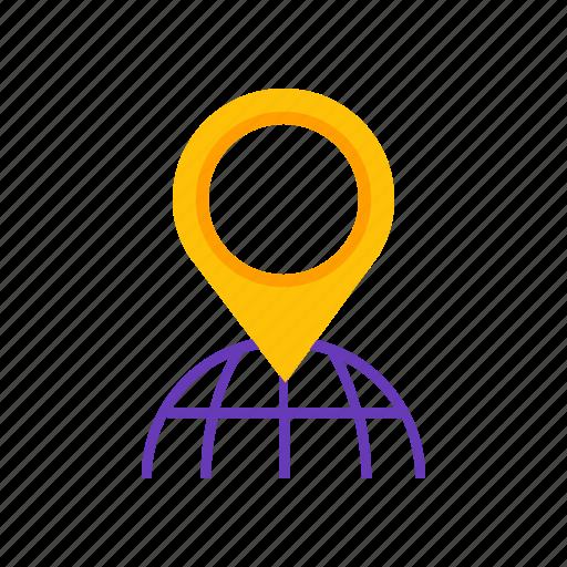 city, earth, gps, location icon