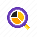 accouting, analysis, business, search icon