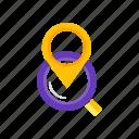 find, location, pointer, us icon