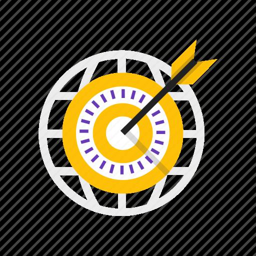 arrow, business, global, marketing icon