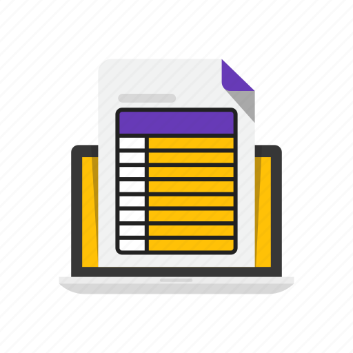 business, electro, invoice, laptop icon
