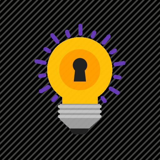 bulb, creative, idea, key icon