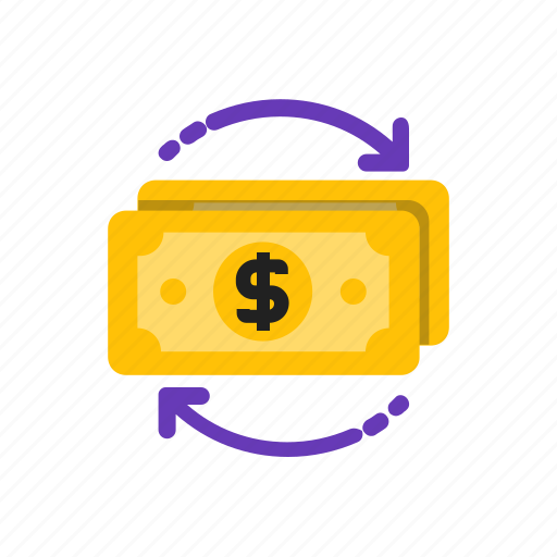 arrow, business, flow, money icon