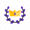 best, crown, premium, product icon
