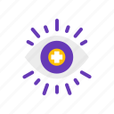eye, health, opthamology, vision icon