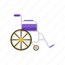 medical, care, wheelchair, sit