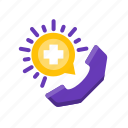 health, medical, phone, support icon