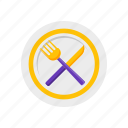 eat, fork, knife, lunch, restaraunt icon