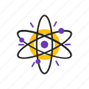 atom, core, research, science icon