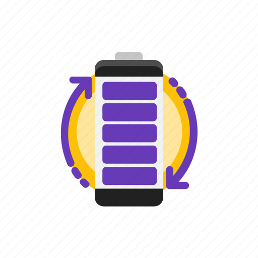 battery, charge, full, recycling icon
