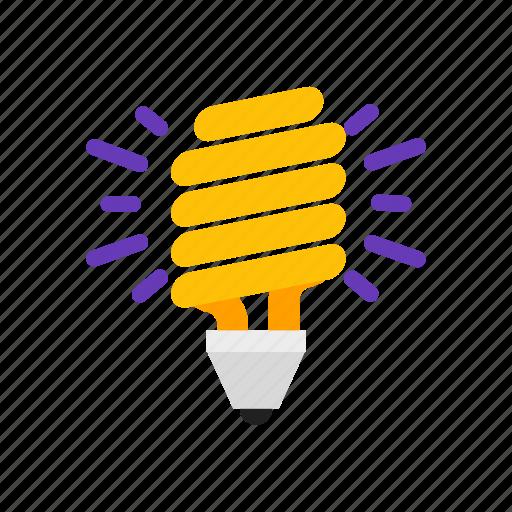 bulb, eco, energy, save icon