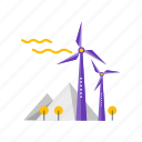 clean, nature, power, wind icon