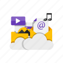 cloud, folder, image, storage icon