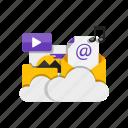 cloud, folder, image, storage