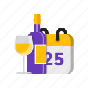 birthday, calendar, drink, event icon