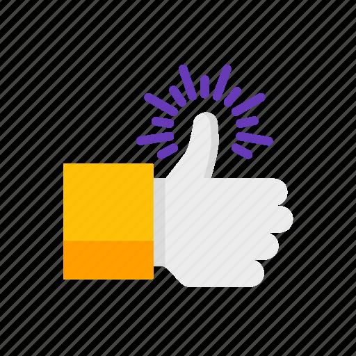 hand, like, thumb, up icon