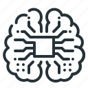 artificial, cyber, intelligence, mind, neural, technology, artificial intelligence icon