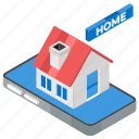 home automation, housing app, online home, smart home, smart house icon