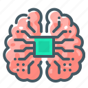 artificial, artificial intelligence, cyber, intelligence, mind, neural, brain icon