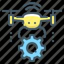 air, drone, quadcopter, quadrocopter, robot, technology icon