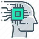 artificial, artificial intelligence, intelligence, smart technology, technology, microchip icon