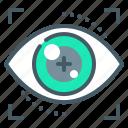 authentication, eyetap, iris, technology icon