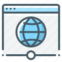 browser, global, globe, network, webpage